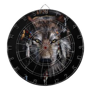 Indian wolf - gray wolf dartboard
