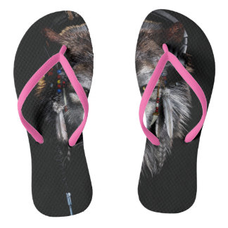 Indian wolf - gray wolf flip flops