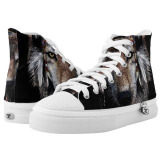 Indian wolf - gray wolf high tops