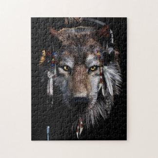 Indian wolf - gray wolf jigsaw puzzle