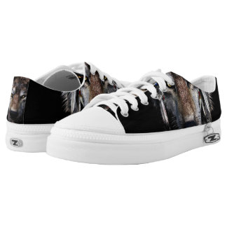 Indian wolf - gray wolf Low-Top sneakers