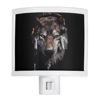 Indian wolf - gray wolf nite lights