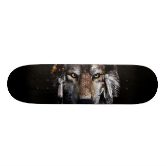 Indian wolf - gray wolf skate board
