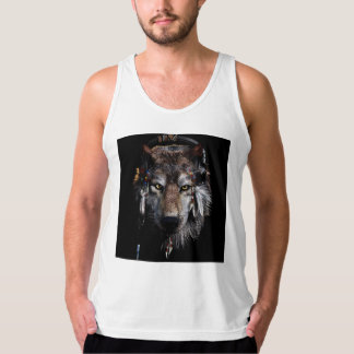 Indian wolf - gray wolf tank top