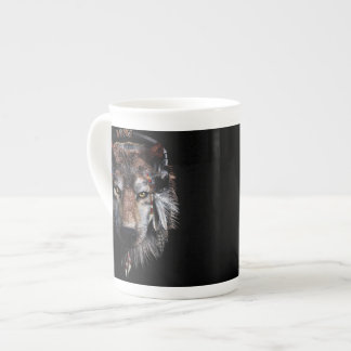 Indian wolf - gray wolf tea cup