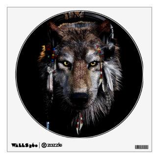 Indian wolf - gray wolf wall sticker