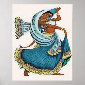 Indian Woman Dancing Poster