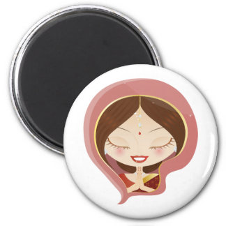 Indian Woman Praying Magnet