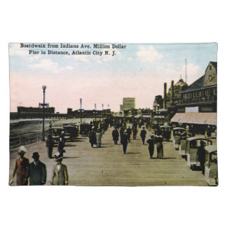 Indiana Ave Boardwalk, Atlantic City Vintage Place Mat