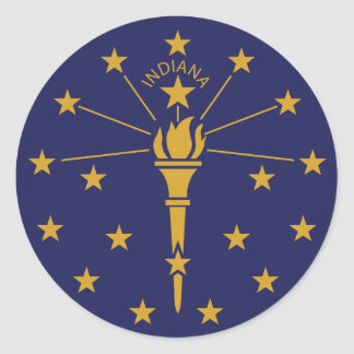 Indiana Classic Round Sticker