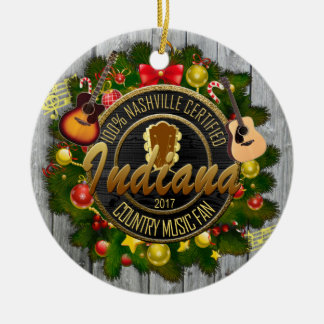 Indiana Country Music Fan Christmas Ornament