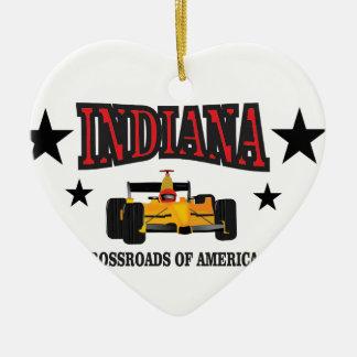 Indiana crossroad ceramic ornament