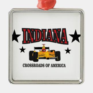 Indiana crossroad metal ornament