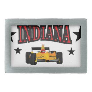 Indiana crossroad rectangular belt buckle