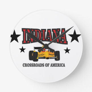 Indiana crossroad round clock