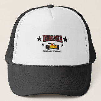 Indiana crossroad trucker hat