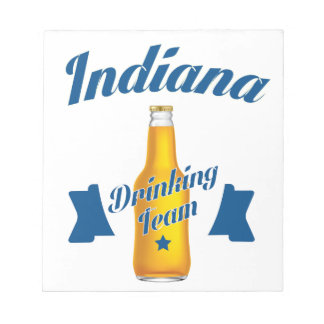 Indiana Drinking team Notepad