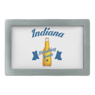 Indiana Drinking team Rectangular Belt Buckles
