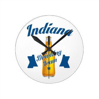 Indiana Drinking team Round Clock
