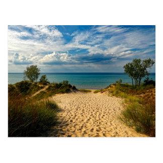 Indiana Dunes, Lake Michigan Postcard