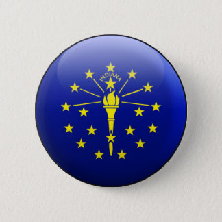 Indiana Flag 2 Inch Round Button