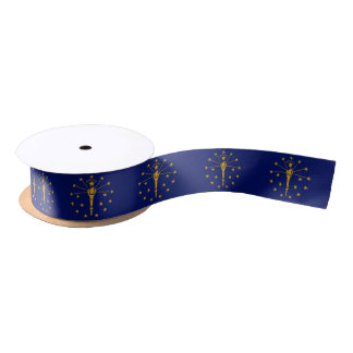 Indiana flag, American state flag ribbon Satin Ribbon