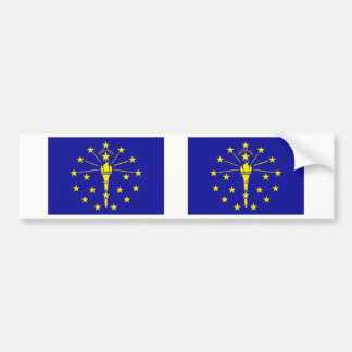 Indiana Flag Bumper Sticker
