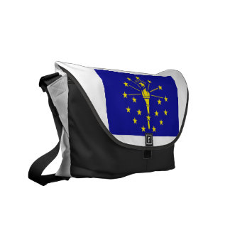 Indiana Flag Courier Bag
