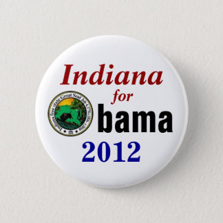 Indiana for Obama 2012 2 Inch Round Button