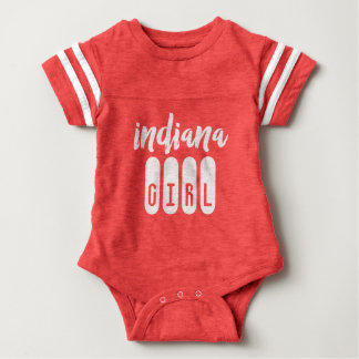 Indiana Girl Baby Football Bodysuit