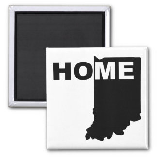 Indiana Home Away From State Fridge Magnet