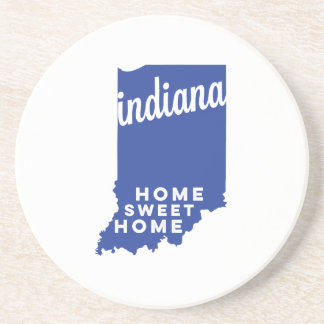 indiana | home sweet home | blue coaster