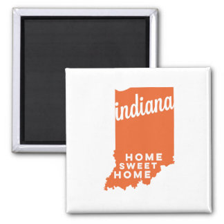 indiana | home sweet home | orange magnet