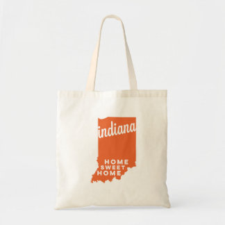 indiana | home sweet home | orange tote bag