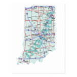Indiana Interstate Map Postcard
