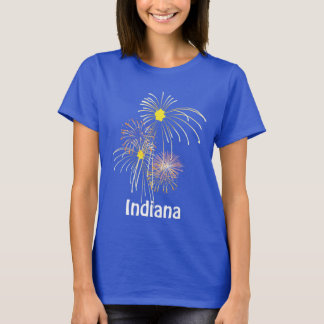 Indiana July 4th Fireworks Ladies T-shirt