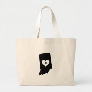 Indiana Love Large Tote Bag