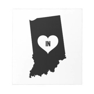 Indiana Love Notepad