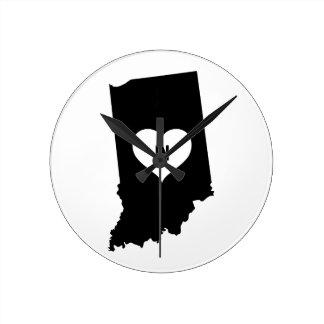 Indiana Love Round Clock