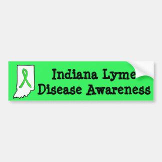 Indiana Lyme Disease Awareness Bumper Sticker