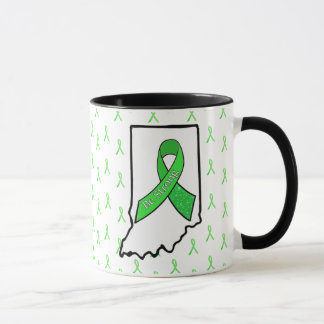 Indiana Lyme Disease Awareness Ribbon Coffee Mug