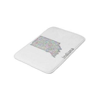 Indiana map bath mat