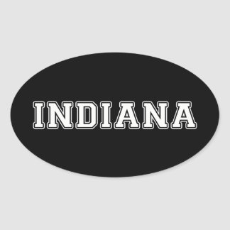 Indiana Oval Sticker