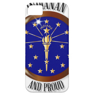 Indiana Proud Flag Button Case For The iPhone 5