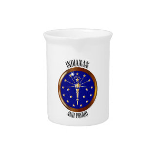 Indiana Proud Flag Button Pitcher