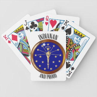 Indiana Proud Flag Button Poker Deck