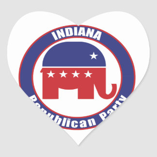 Indiana Republican Party Heart Sticker