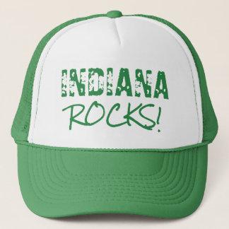 INDIANA Rocks Words Green Hat
