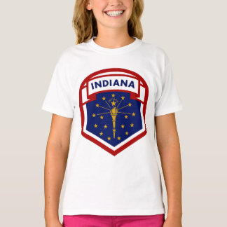 Indiana State Flag Coat Of Arms Style T-Shirt