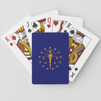 Indiana State Flag Design Poker Deck